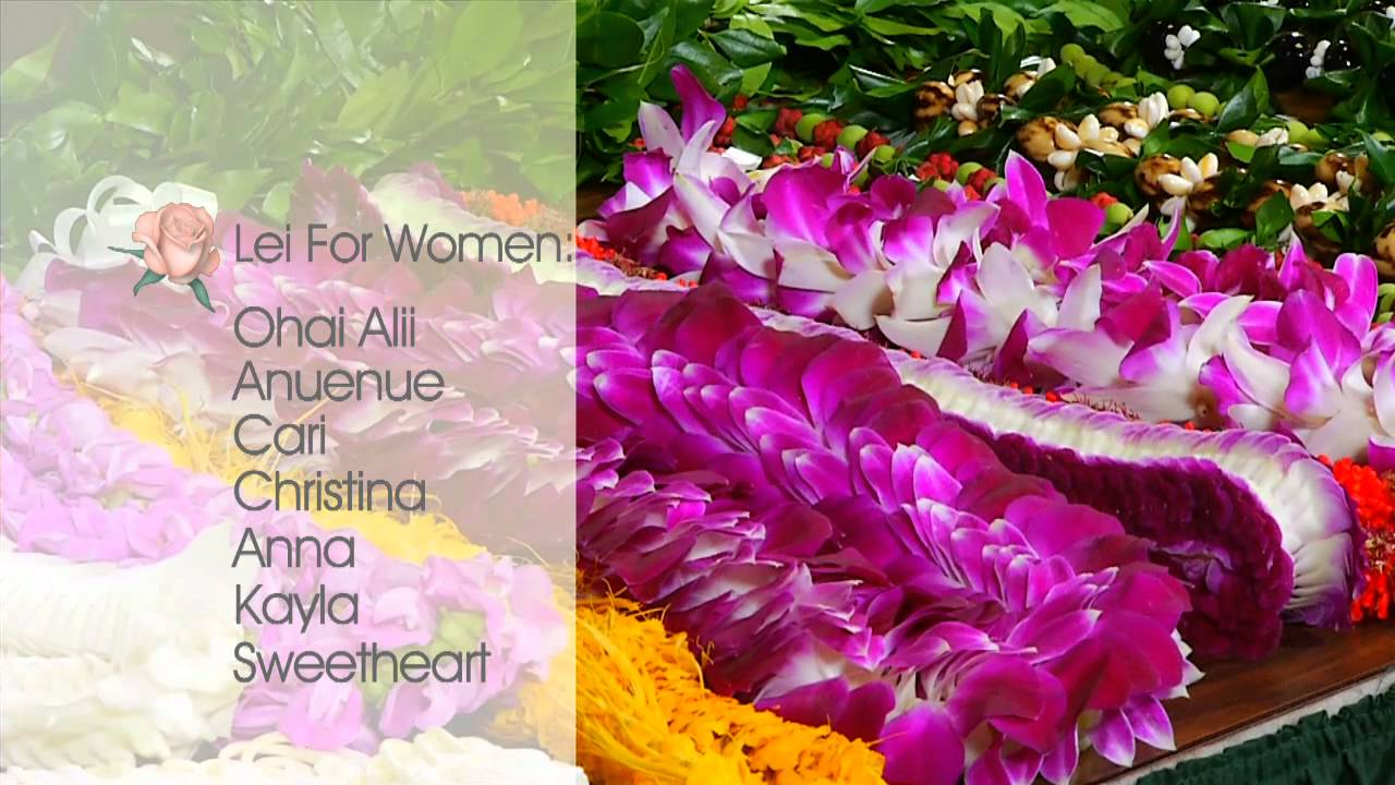 How to choose a lei for a woman watanabe floral honolulu hawaii how to choose a lei for a woman watanabe floral honolulu hawaii florist flower shop youtube izmirmasajfo Image collections