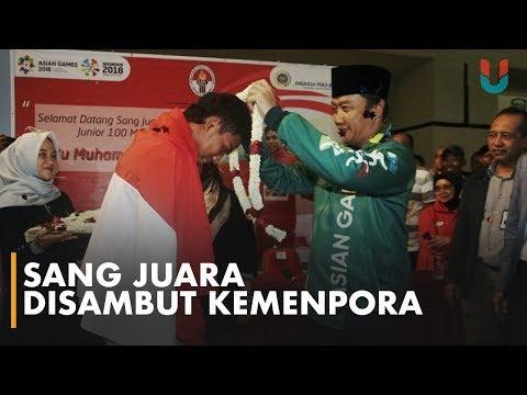 Lalu Zohri Disambut Meriah di Soekarno Hatta
