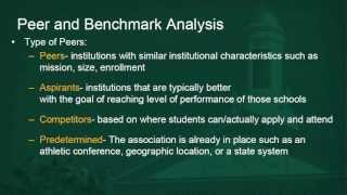assessment academy 6 peer analysis and benchmarking
