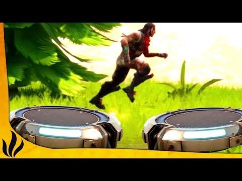 JUMP D'UN TREMPLIN À UN AUTRE DANS LA ZONE FINALE ! (Fortnite: Battle Royale)