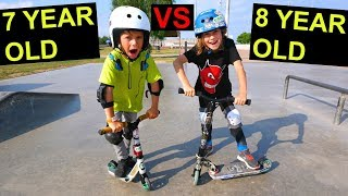 7 YEAR OLD VS 8 YEAR OLD - GAME OF SCOOT