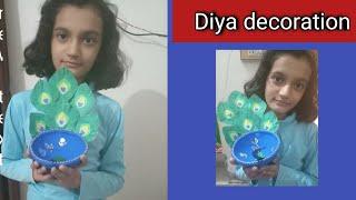 Diya decoration (Diwali special)|Rakshika Rajawat