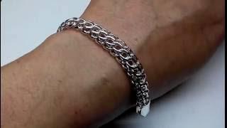 Массивный браслет венеция питон американка серебро. Ручная работа