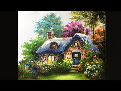 Painting The Basic Cottage In Acrylics - Lesson 3