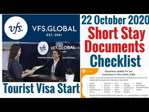Vfs Global 22 October 20 & E-Visa Or Sticker Visa Start | Tourist Visa | Docoment Checklist Provide