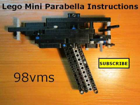 Lego Mini Parabella Semi-Auto Pistol Instructions - YouTube