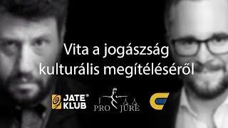 Vita Ragány Zoltánnal a szegedi JATE Klubban a jogászság kulturális megítéléséről   2019.11.19.