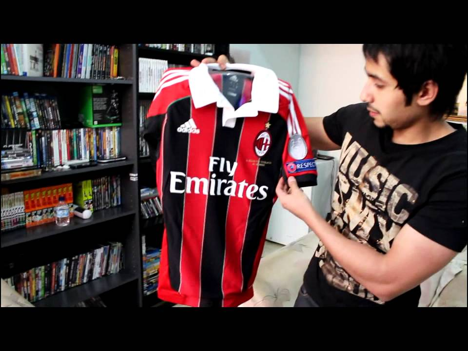 best sneakers d9c1c 71e2e Adidas AC Milan Home AUTHENTIC Jersey 12/13 Techfit unboxing