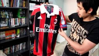 Adidas AC Milan Home AUTHENTIC Jersey 12/13 Techfit unboxing