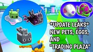 Pet Simulator X Update leaks! New Trading Plaza, Pets and Eggs! - Roblox Pet Sim X
