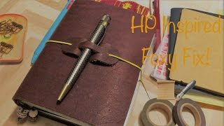set up harry potter inspired foxy fix no 3 rowena traveler s notebook hobonichi a6 long chatty