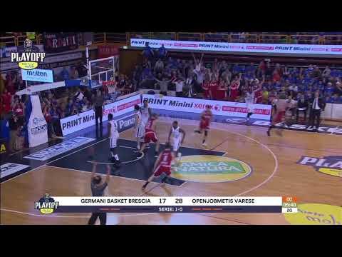 HIGHLIGHTS G2 LBA Playoff/ Germani Brescia - Openjobmetis Varese 77-75