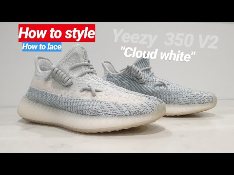 How To Lace Your YEEZY KAWS Style - YouTube