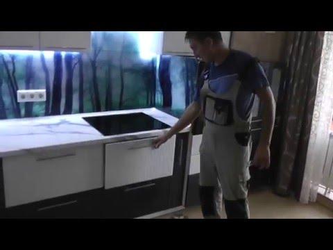 Как установить фартук на кухне