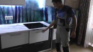 видео для кухни стеновая панель