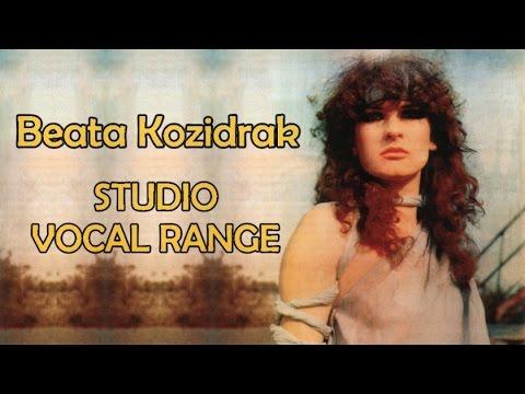 Beata Kozidrak's Studio Vocal Range [C3-Eb7]