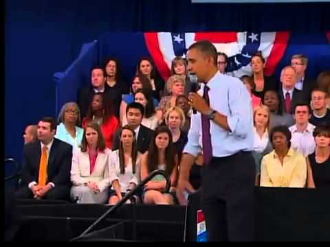 Obama in Cincinnati on July 16, 2012