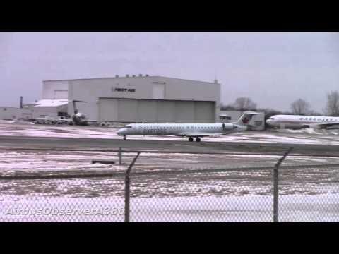 Air Canada Express CRJ-705 Takeoff from Ottawa Int'l Airport