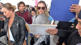 Margot Robbie Asked If She Wants To Raise Her Babies In The US Or Australia Upon Arrival At LAX