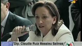 Intervencion de la  Dip  Claudia  Ruiz  Massieu  Salinas  En el Grupo de  Celula de Identidad   Ciudadana  13 julio 10