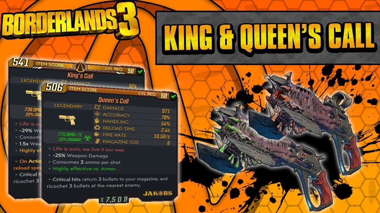 Borderlands 3 | King's Call + Queen's Call Legendary Weapon Guide (Critical Splits!)
