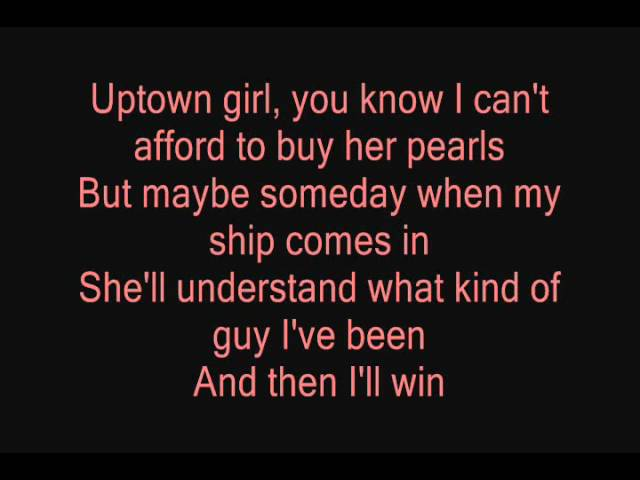 Uptown Girl Westlife Lyrics Chords Chordify