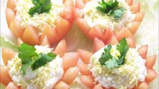 Праздничная пикантная закуска. Фаршированные помидоры. Просто,вкусно,красиво!🍅🍅