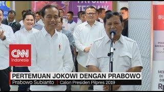 Pernyataan Lengkap Jokowi-Prabowo Usai Turun Dari MRT