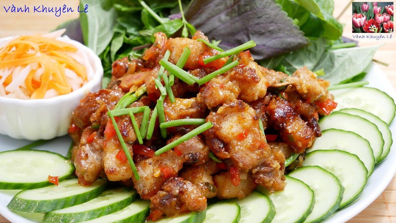 THỊT HEO CHIÊN GIÒN SỐT ME – Ba rọi chiên giòn Sốt Me – món ăn ngon dễ làm by Vanh Khuyen