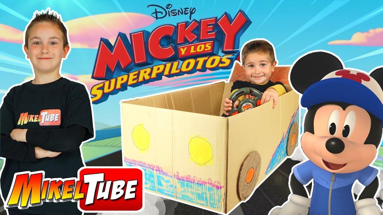 Unboxing De Juguetes Mickey Y Los Superpilotos Fabricamos Un Carro