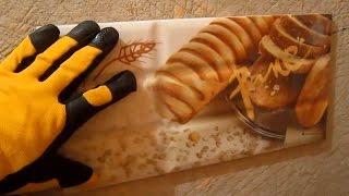 Фартук на кухне пластиком и плиткой своими руками. Укладка плитки за 20 минут.(, 2016-09-17T10:29:18.000Z)