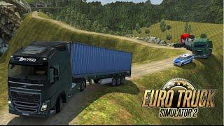 Euro Truck Simulator 2 - Mapa Indonésia : Serra perigosa e alagamento na rodovia