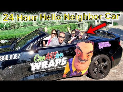 24 Hours in Hello Neighbor Car!