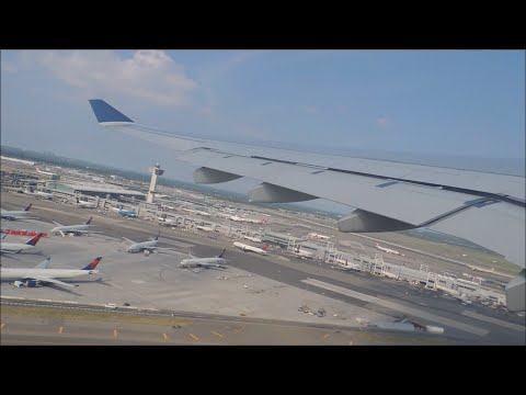 Delta Airlines Airbus A330-302 [N824NW] push back, taxi, and takeoff from JFK