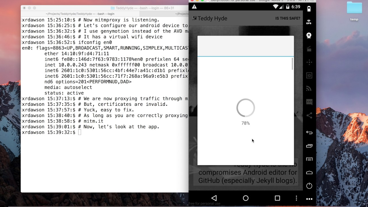 Viewing traffic on Teddy Hyde (or any Android app) using mitmproxy
