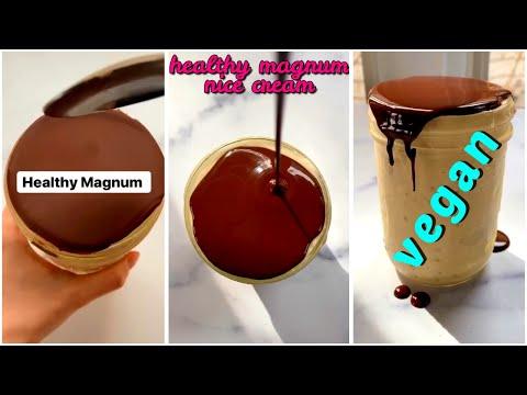 Healthy Magnum Ice Cream | Vegan Dessert | Dairy-free healthy ice cream recipe