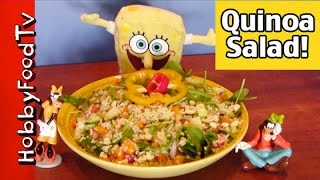 Hobbyfood: Salad! Spongebob Veggie Quinoa Goofy By Hobbyfoodtv