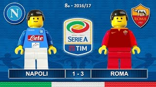 Napoli Roma 1-3 • Serie A 2017 (15/10/2016) goal highlights sintesi Lego Calcio