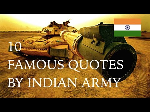 10 Famous Quotes By Indian Army Youtube