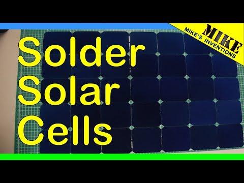 Soldering Sunpower Maxeon Solar Cells