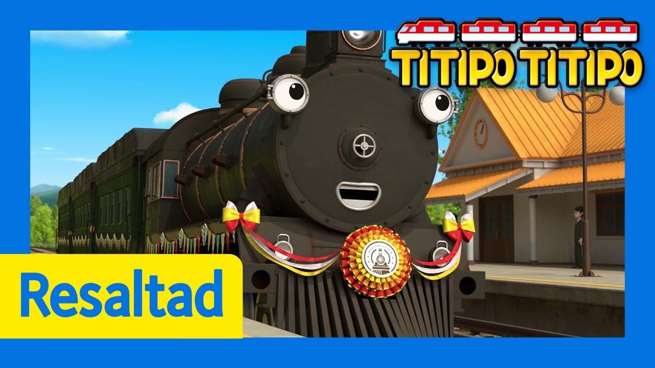 Titipo Español Mejores episodios l ¿Quién es el tren más antiguo? l Titipo El pequeño Tren