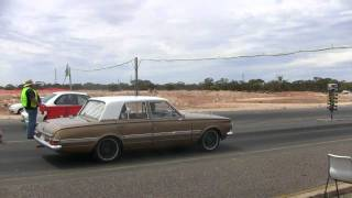 Tailem Bend Drags 19/2/12 Valiant AP5 Regal Vs Subaru WRX VRMPSH