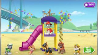 Мультик игра Щенячий патруль: Строить детскую площадку (Pawsome Playground Builder)