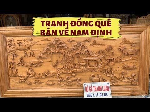 💥Bức Tranh Đồng Quê Gỗ Gụ 2m17x1m07x5,5. A Thành Nam Định.#ĐỒ_Gỗ_Thành_Luân
