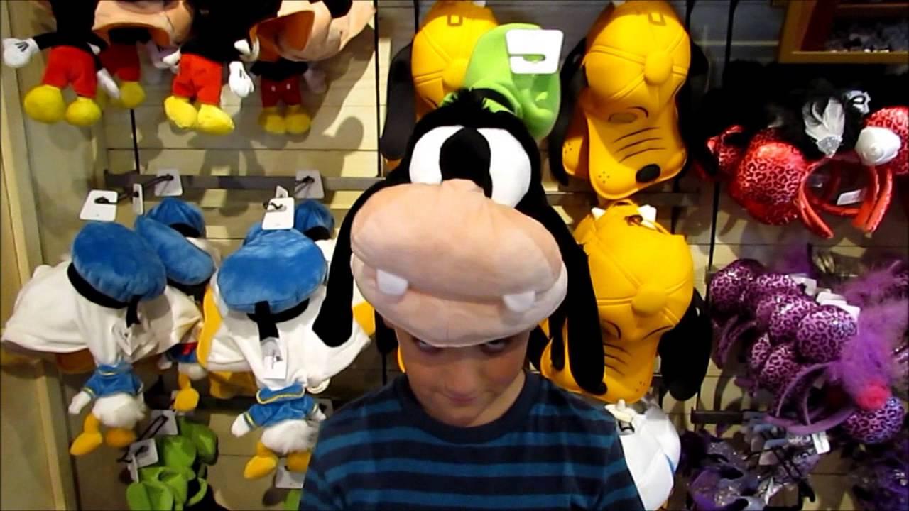 7343e5ccb491dc Disney World Merchandise: Funny Character Hats with Mickey, Goofy & Donald  - YouTube