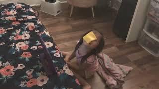 Cheese challenge on Sophia 🧀