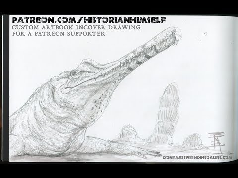 Custom Paleoart Artbook (Phytosaur)
