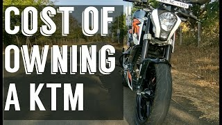 Cost of Owning a KTM Duke 200/RC 200 ( Maintenance, servicing, mileage, Tyres, Insurance )