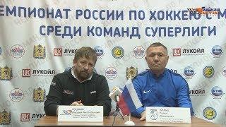 Пресс-конференция А.А. Рушкина и П.Я. Франца