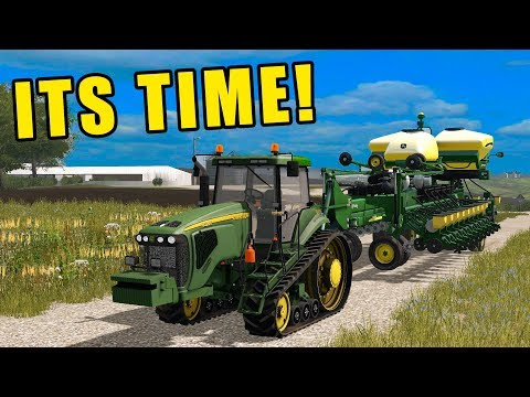 FIRST TIME USING THE JD 8520T!   EP#78   FARMING SIMULATOR 2017